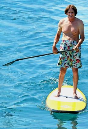 Bruce on paddleboard