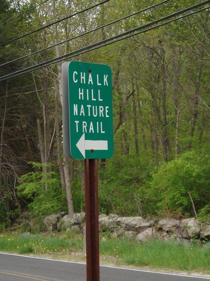 Chalk Hill Nature Trail sign