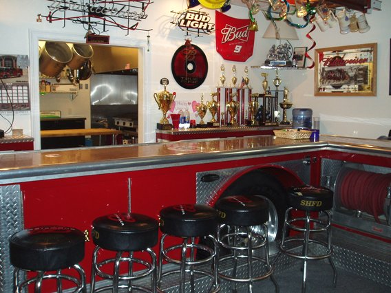 Bar at Sandy Hook firehouse