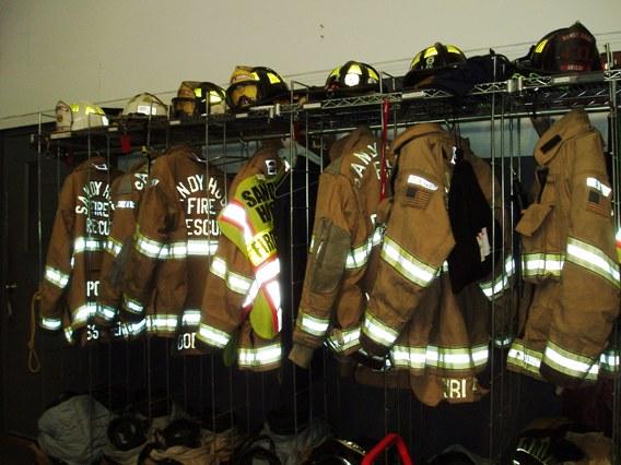 Fire gear for Sandy Hook firemen