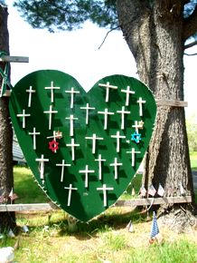 Heart-shaped memorial