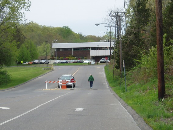 Entrance to Sandy Hook school
