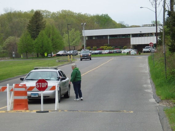 Sandy Hook school entrance