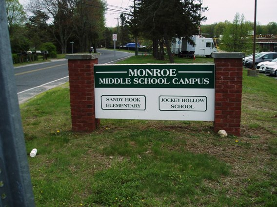 New Sandy Hook school sign