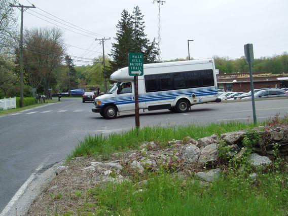 Van leaving Sandy Hook school