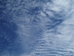 Clouds, layered striations
