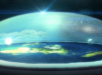 Flat Earth with dome