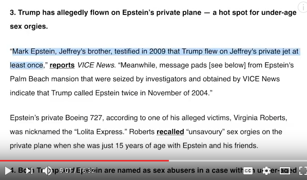 Trump Epstein connection 2004