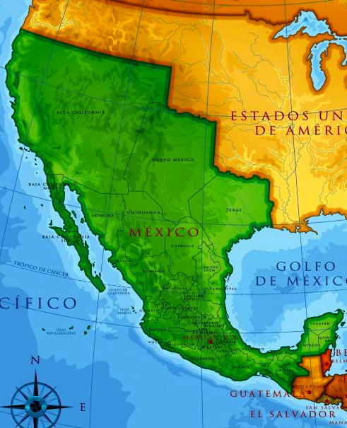 Mexico Original Borders